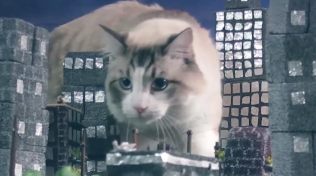 猫の大怪獣「キャットジラ」(というかただの猫)が平和な街を脅かすという短編映画wwwwwwwwww