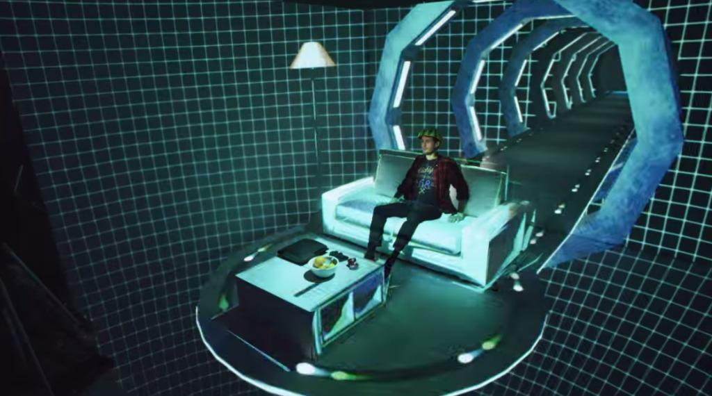 部屋内でプロジェクションマッピングをやった結果、仮想現実の世界のような超空間ができた!!