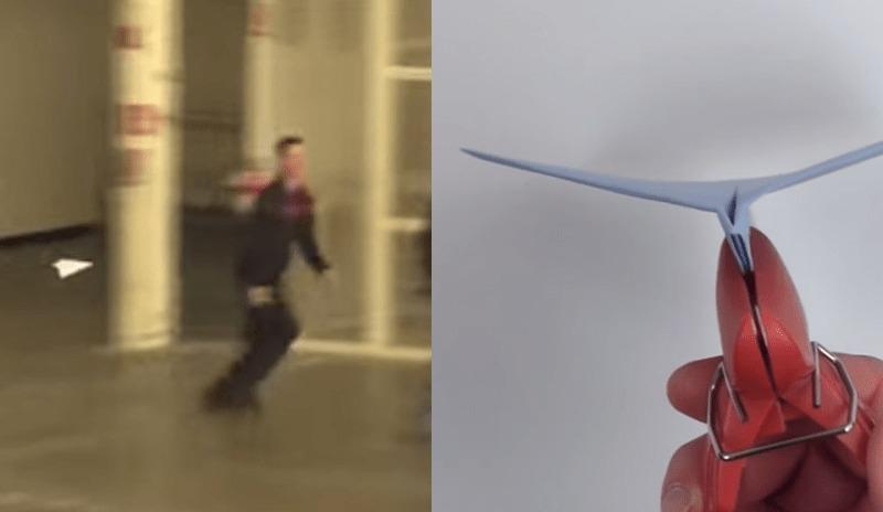 A4サイズの紙だけで作った「紙飛行機」のギネス記録達成の映像と、その作り方!!!
