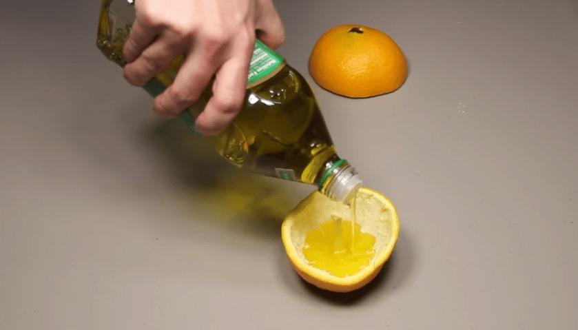 オレンジとオリーブオイルだけで簡単に作れるキャンドルが素敵!!