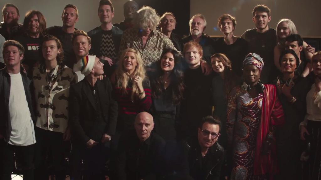 エボラ対策支援のためのチャリティーソングのミュージックビデオ