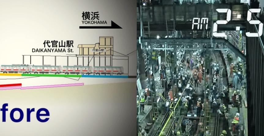 こんな大掛かりな作戦が繰り広げられていた!東横線渋谷駅が地下化された日の工程を早回しで!!