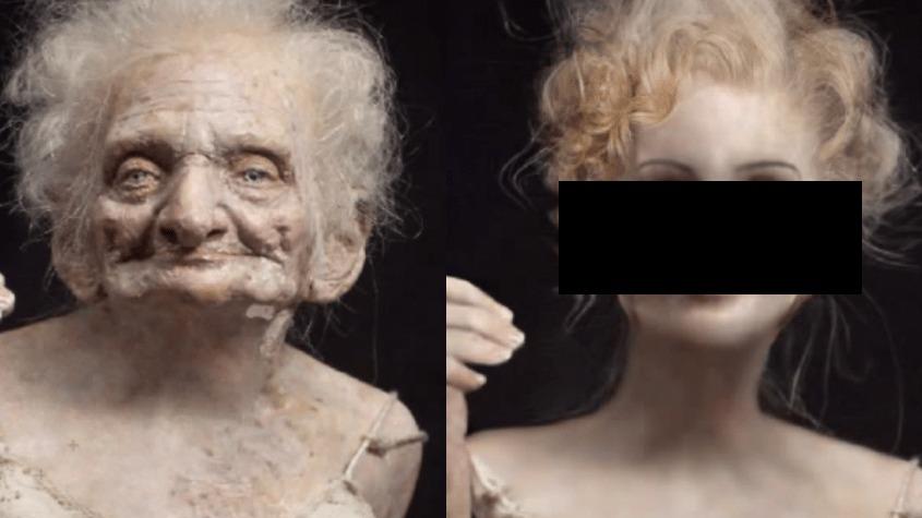 しわしわのおばあちゃん、フォトショップで若い頃に戻して行くと。。美女だった!