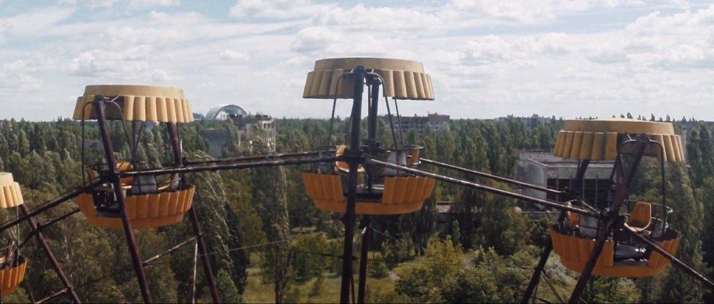 今のチェルノブイリをドローンで空撮した映像