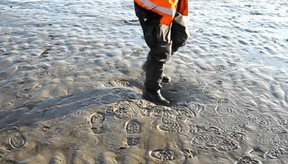一度沈み込んだら脱出不可能な「底なし砂」の上を歩いてみた!