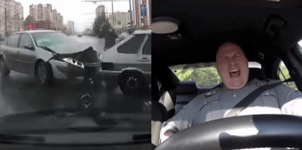 【爆笑】あの「口パクしながらノリノリでパトロールする警官」のマッシュアップ映像が面白すぎるwwwwwwwwww