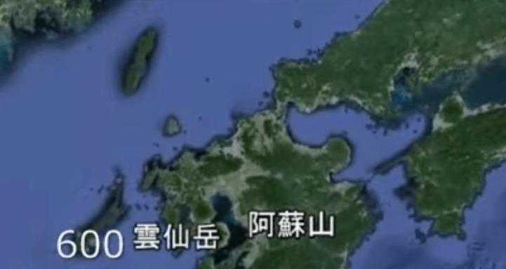 【地球ヤバイ】富士山の過去の最大噴火を「1」とした場合の各火山のフルパワー比較映像