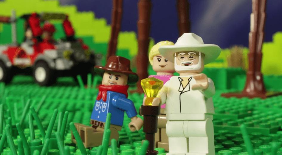 レゴで「ジュラシックパーク」の名シーンを再現!制作費1200万円!!