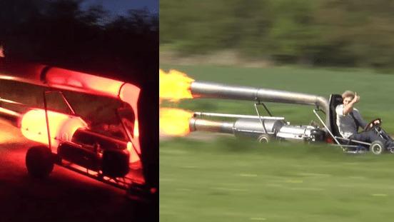 ゴーカートにジェットエンジンを搭載して時速90kmで爆走!!