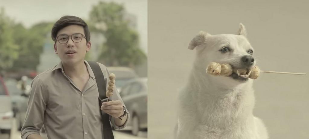 犬は恋のキューピッド!せっかく買った肉串を犬にあげた優しい青年に、ワンちゃんからの素敵な恩返し♪【タイの感動CM】