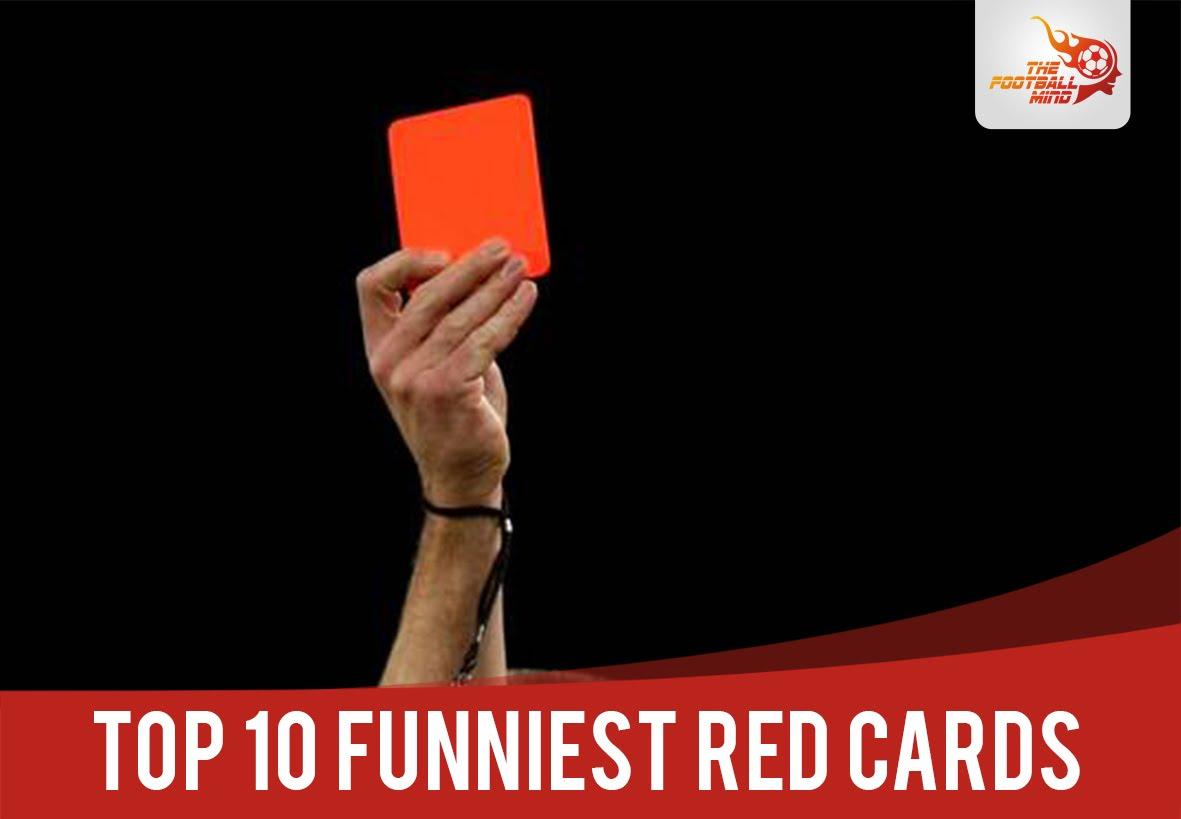 【サッカー動画】爆笑注意!変なレッドカード