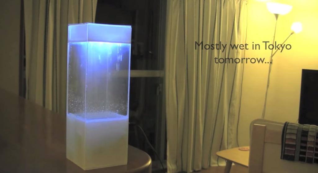 小さな箱で外の天気をリアルに再現!直感的に天気がわかるインテリア「tempescope」が素晴らしい!!