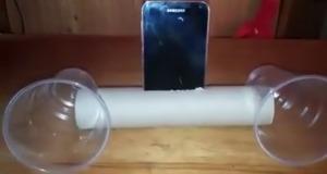 めちゃ音質が良くなる!ペーパーの芯と使い捨てコップで作ったスマホ用スピーカーが素晴らしい!!