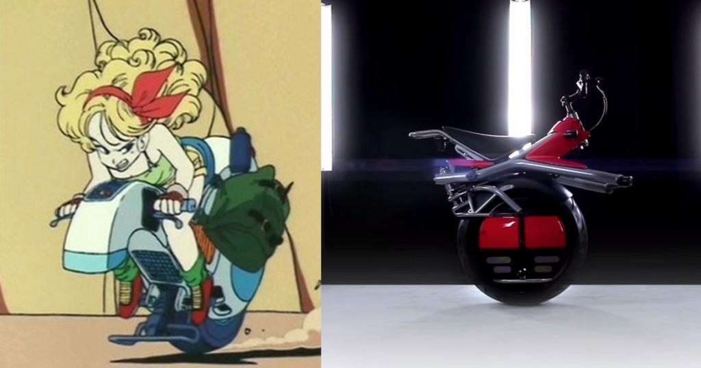 ドラゴンボールのランチが乗っていた一輪バイクが実現していた!!