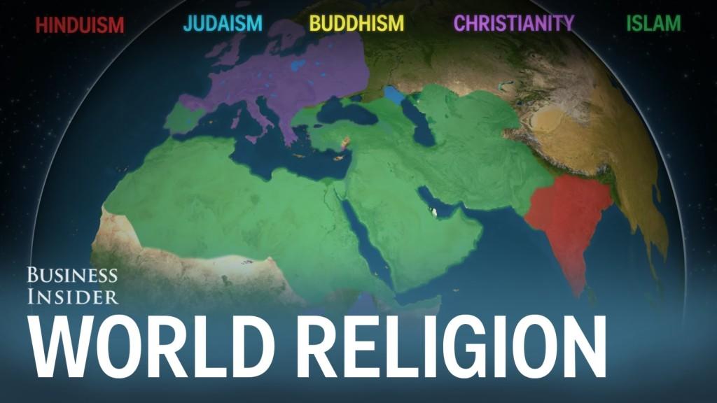 世界の宗教はどういう広まり方をしたのか?5000年の歴史を2分半で可視化した映像