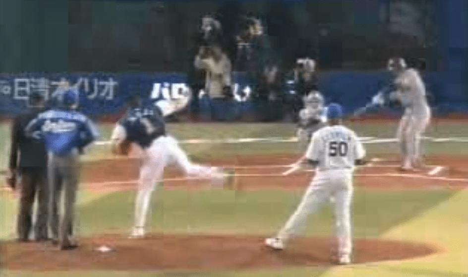 室伏広治、始球式で凄い投球フォームで時速131キロの豪速球!!