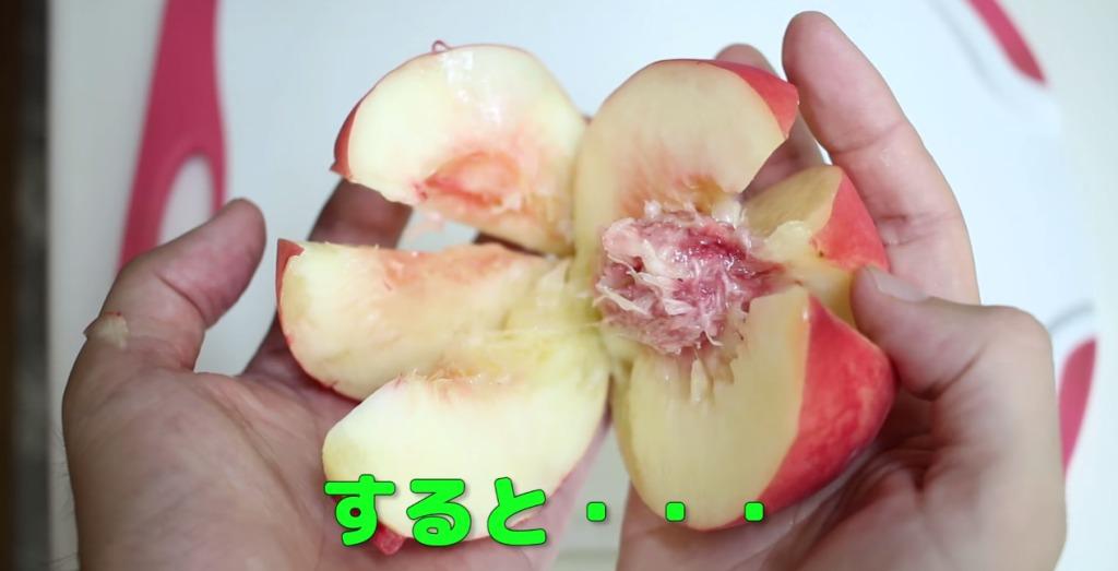【目から鱗】これはナイス!桃の上手な切り方!!