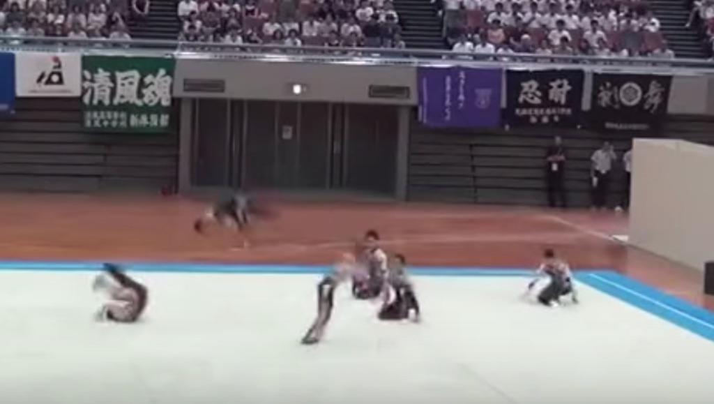 鹿児島実業新体操、2015年も「妖怪ウォッチ」で最高のパフォーマンス!!