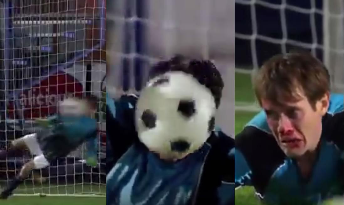 【爆笑】全てのボールを顔面でキャッチ。。ネタとしか思えない史上最悪のPK合戦wwwwwwww