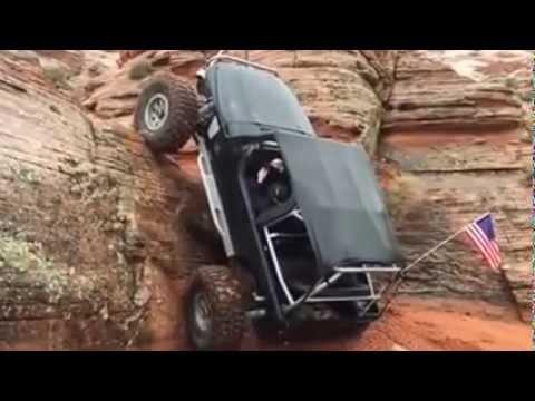 ほぼ直角!90度の絶壁を登るジープがスゴい!!