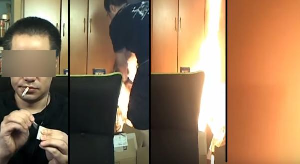 火はこんなに早く燃え広がるのか。。 自宅でライブ配信中に大火事に!一部始終が放送される!!