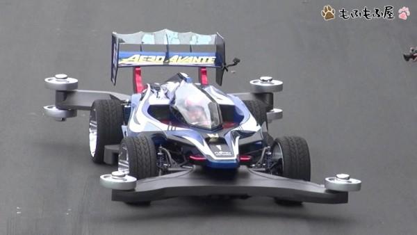 実車版「エアロアバンテ」豪快なエンジン音で、お台場を疾走!最高速はなんと180km/h!!