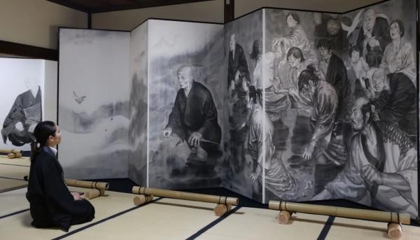 「バガボンド」「スラムダンク」の井上雄彦が描く「親鸞」の屏風絵が公開!!