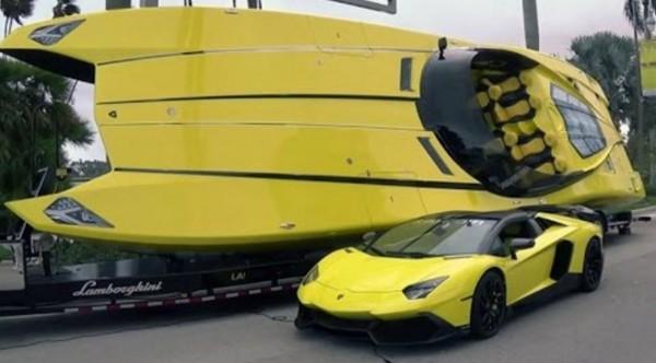 ランボルギーニのボートがかっこよすぎ!2700馬力のモンスターマシン!!
