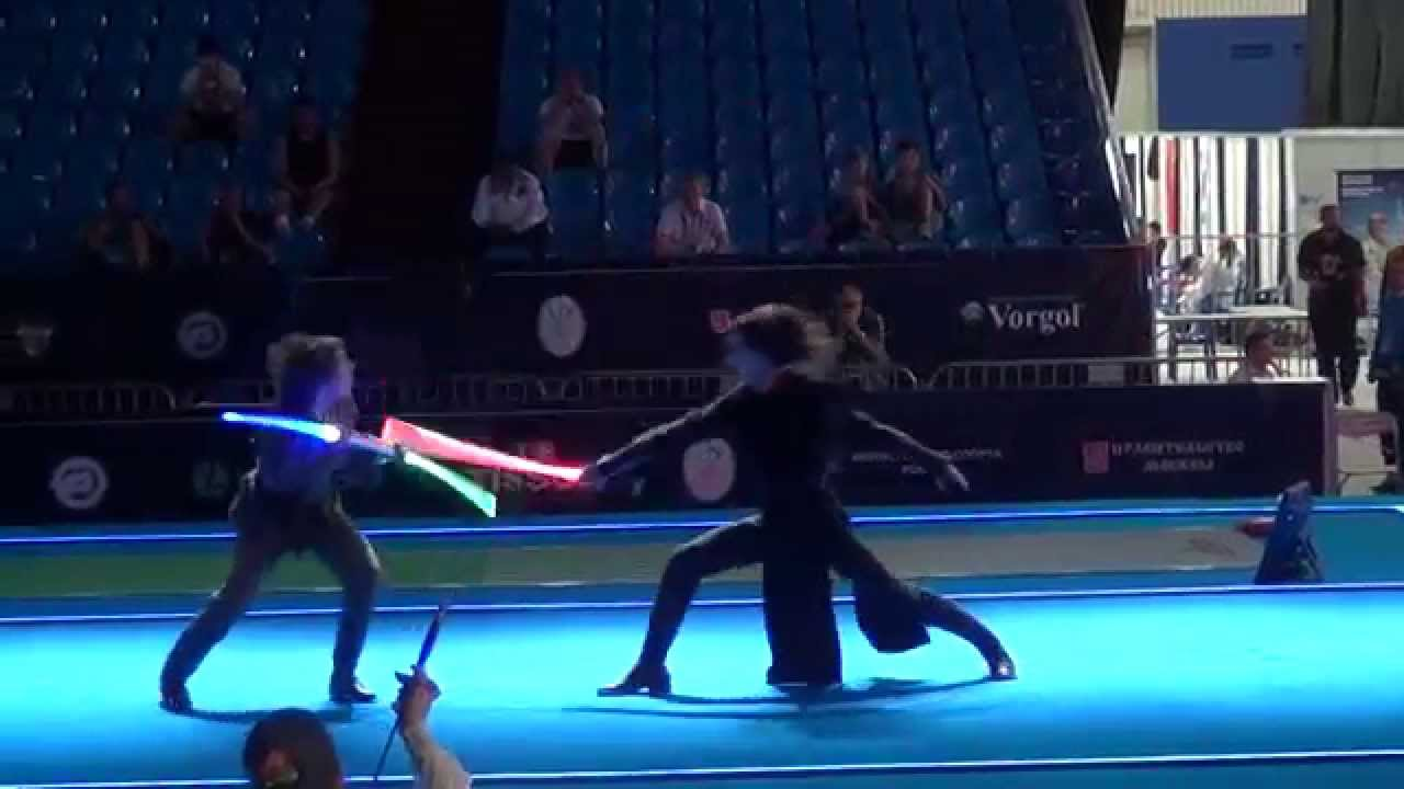 フェンシング世界大会で披露されたライトセーバーでの闘いが素晴らしい!!
