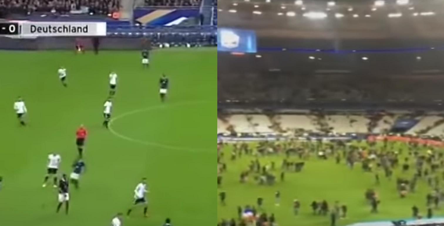 【パリ同時多発テロ】仏独サッカー親善試合中のスタジアムに爆発音が響く
