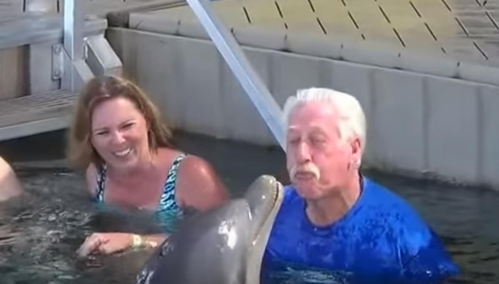 イルカとおじいさんの壮絶な戦い!予想外のオチにみんな大爆笑!!