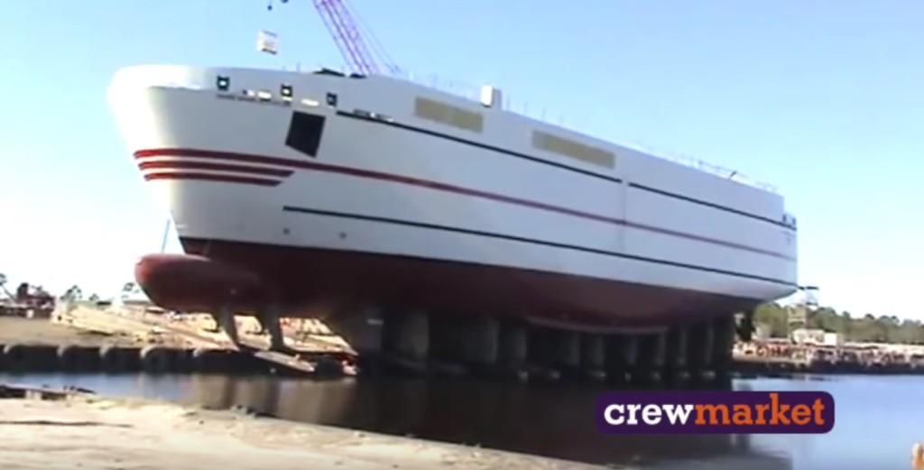 巨大船舶の横からドボーンと進水式7連発!!
