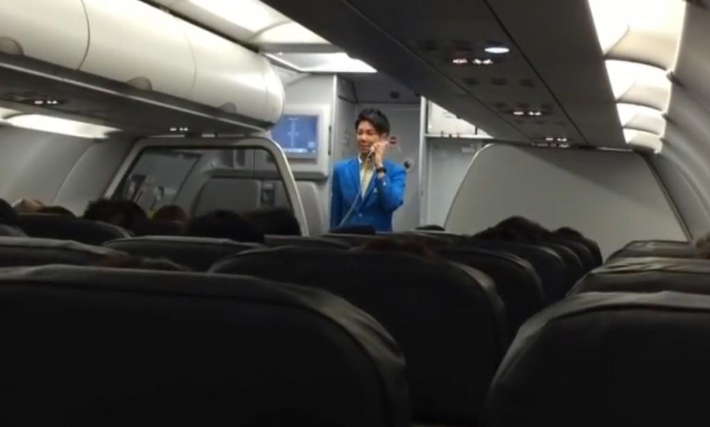 【日本】最高のおもてなし!バニラ・エアの男性CAさんの機内アナウンスが面白い!!