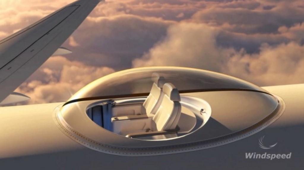 360度回りを見渡せる飛行機の展望席がナイスアイディア!!