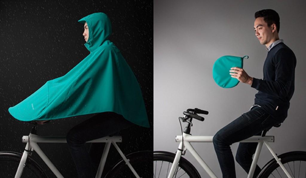 自転車用の超コンパクトな「レインコート」が登場!手足も濡らさず、蒸れない!!