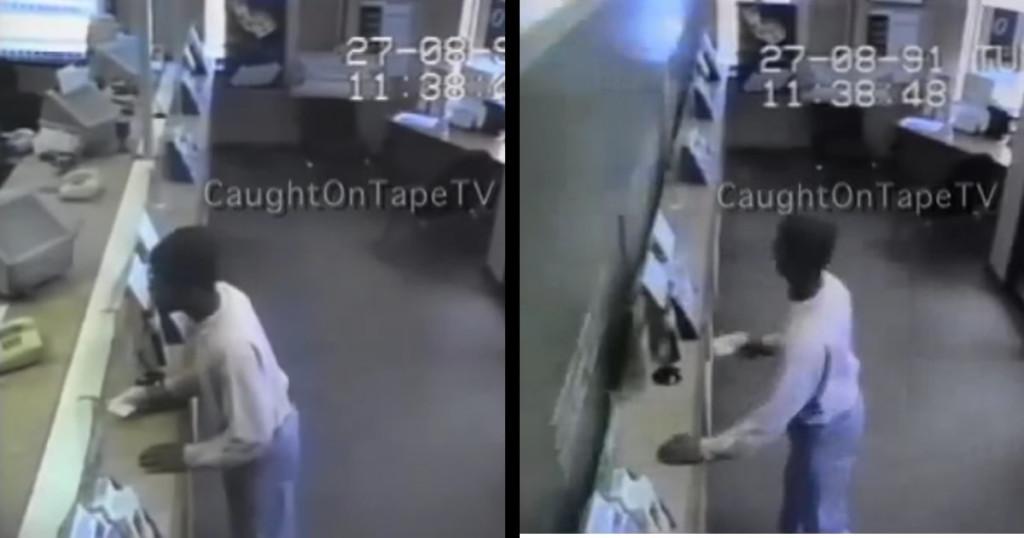 強盗を一瞬で「生け捕り」にする捕獲システムが凄い!0.1秒でカタがついてしまった!!