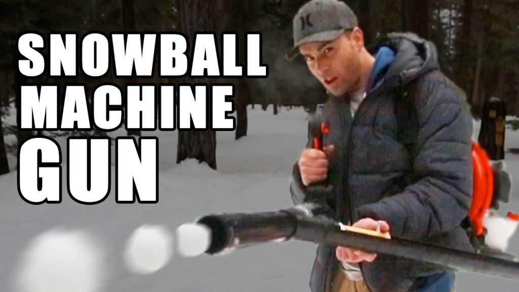 ホームセンターで買えるものだけで連射可能な「雪玉マシンガン」を自作!!