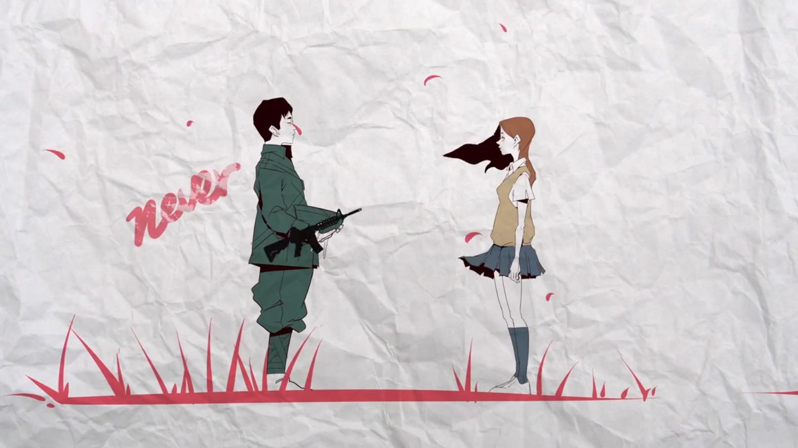 「戦争のつくりかた」日本のアーティスト達によるコラボアニメーション。