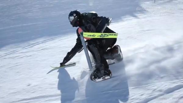 全身を使って滑る!スキー板を体中に装着した「スキーマン」が凄い!!