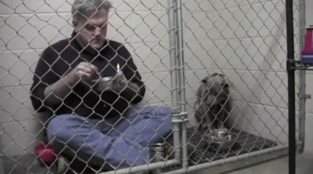 人間に怯えきってエサを食べようとしない犬。その時獣医の取った行動に世界が感動!