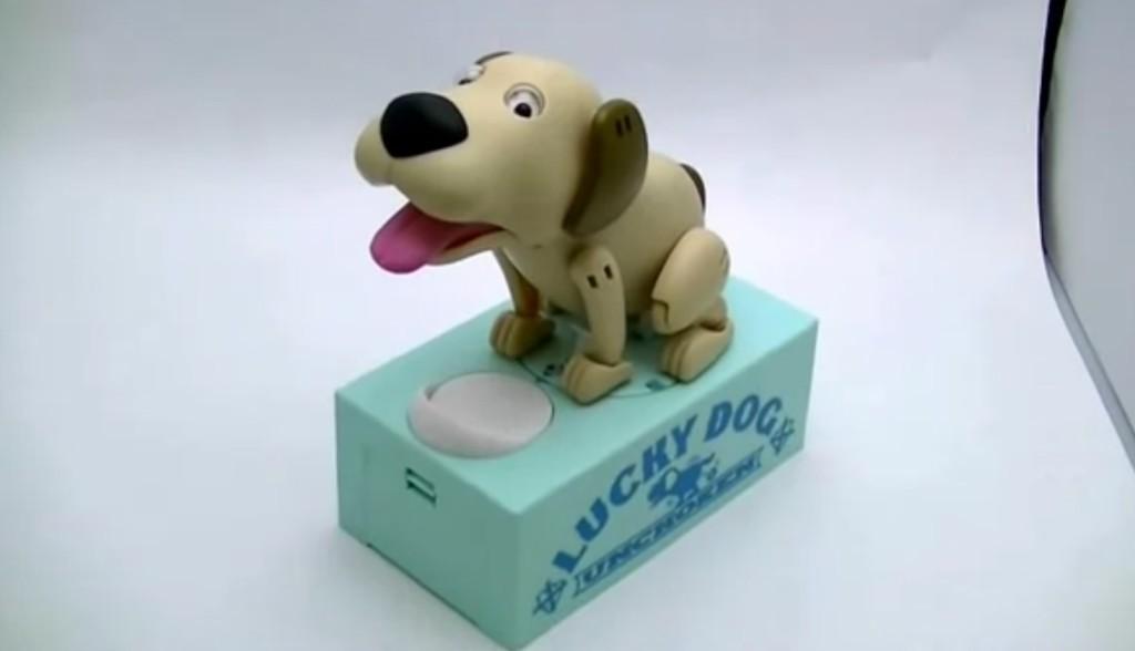 笑撃のアクション!ちょっと汚い犬型貯金箱「運貯犬(うんちょけん)」がヤバイwwwwwwww