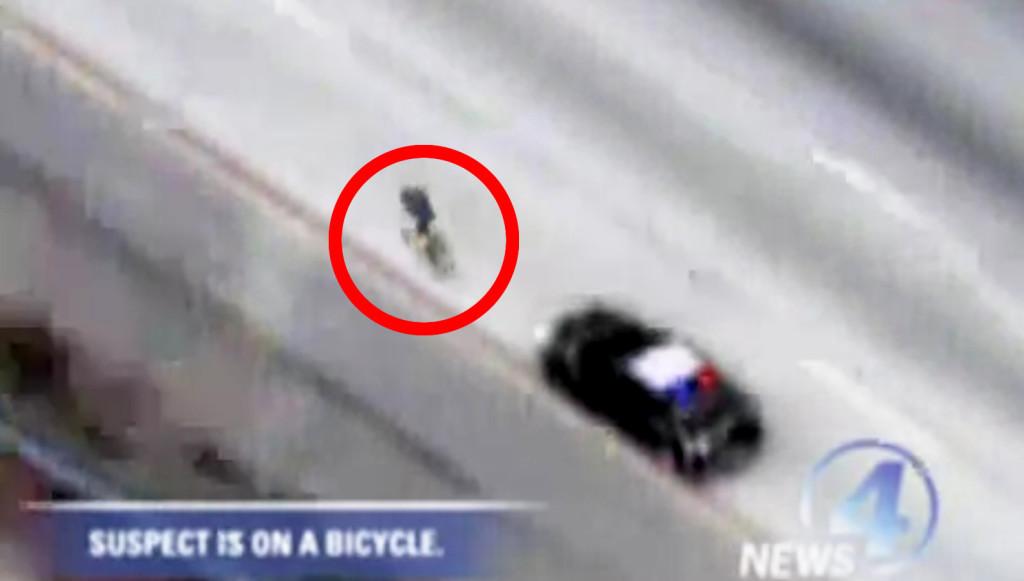 これマジ?高速道路を超スピードでパトカーから逃げる自転車。意外な結末に!!
