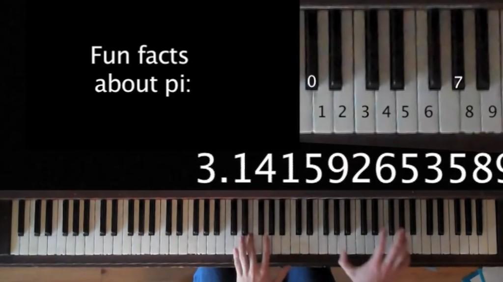 円周率「3.1415…」を鍵盤に置き換えて演奏したら、予想以上に美しいメロディーで驚き!!