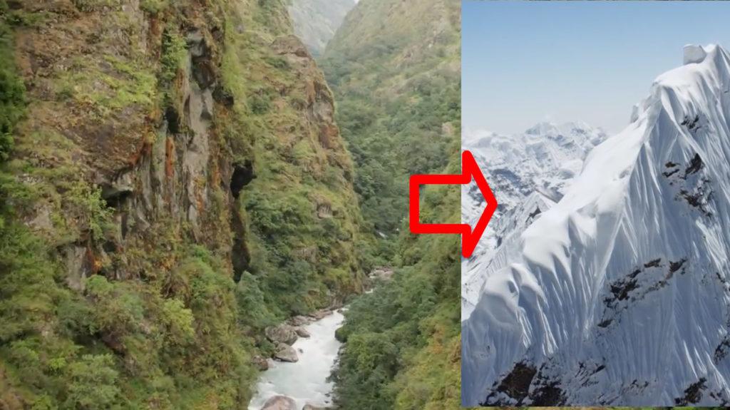 「カトマンズの街〜ヒマラヤ山脈」世界で最も過酷な環境への道のりをドローンで空中散歩!