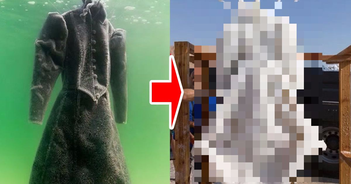 塩分濃度35%の「死海」にドレスを2年間放置した結果、、【写真】