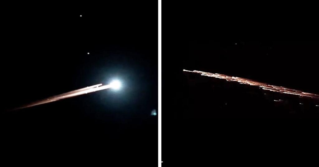 CGかと思った!アメリカ上空に現れた超巨大な「流れ星」が綺麗だと話題に!!