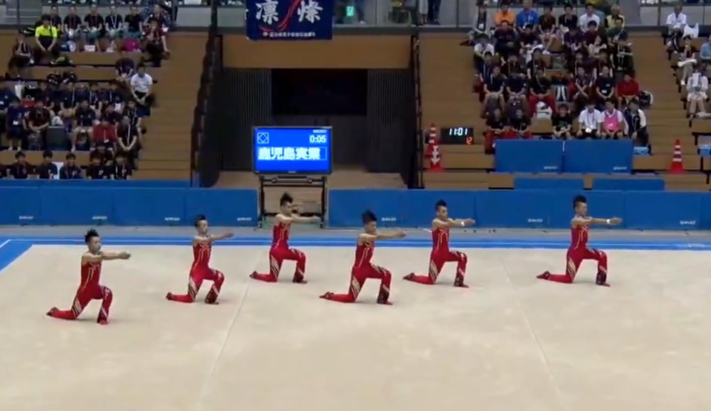 鹿児島実業男子新体操部、2016年の演技も見事!今年流行の小ネタ全開で楽しい「ライザップ・はいてますよ・五郎丸ポーズ」など!!
