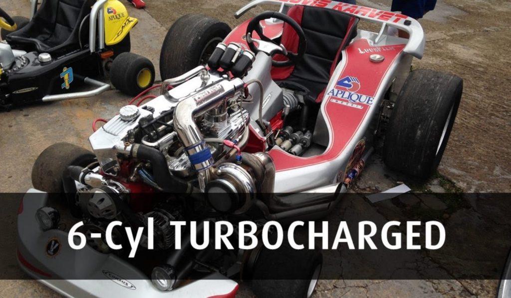 ゴーカートに6気筒500馬力のターボエンジンを搭載した結果、、