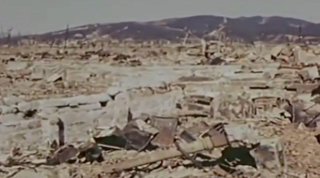 これが原爆の破壊力。。「原爆投下から7ヵ月後の広島」を捉えた貴重なカラー映像。