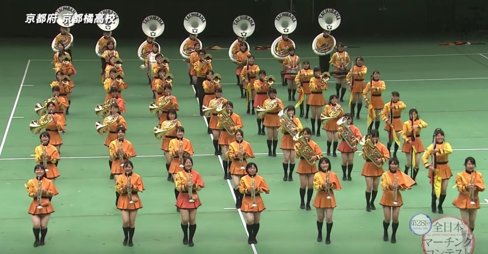 【鳥肌】全日本マーチングコンテストで優勝した女子高生たちの一糸乱れぬパフォーマンスに鳥肌!!